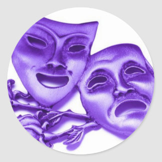 theatre classic round sticker
