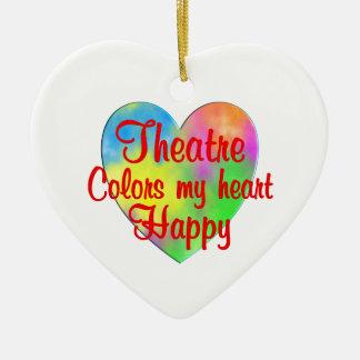 Theatre Colors My Heart Happy Ceramic Heart Decoration