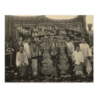 Theatre company, Burma, c.1910 Postcard