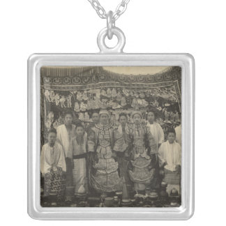 Theatre company, Burma, c.1910 Silver Plated Necklace