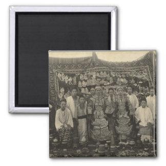 Theatre company, Burma, c.1910 Square Magnet