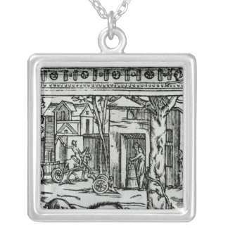 Theatre d'Agriculture et Mesnage des Champs' Silver Plated Necklace