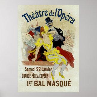 Theatre de l'Opera ~ 1er Bal Masque Poster