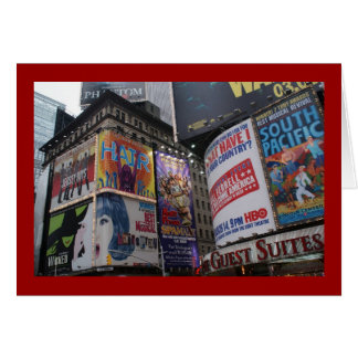 Theatre District - Times Square Card