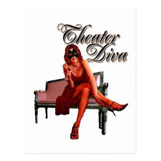 Theatre Diva Collage Postcard