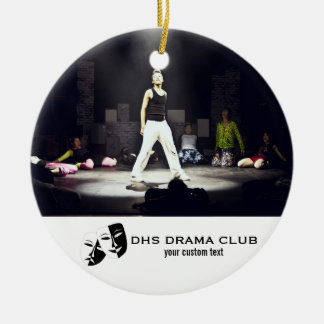 Theatre Drama Club Custom Photo Collage Christmas Ornament