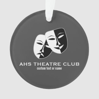 Theatre Drama Club Masks Custom Thespian Name Ornament