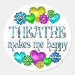 Theatre Happiness Round Sticker