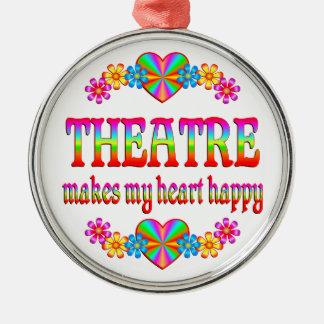 Theatre Heart Happy Christmas Ornament