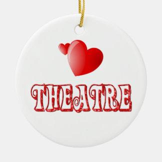 Theatre Hearts Christmas Ornament