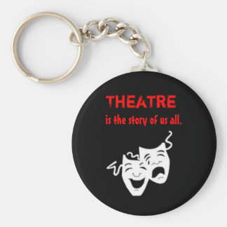 Theatre is the Story of Us All. Basic Round Button Key Ring