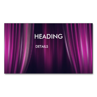 Theatre Magnetic Business Cards