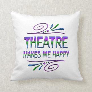 Theatre Makes Me Happy Throw Pillow