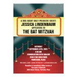 Theatre Marquee Bar Bat Mitzvah Custom Invitations