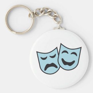 theatre MASKs Basic Round Button Key Ring