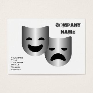Theatre masks business card
