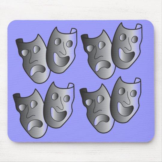 Theatre masks mouse pad