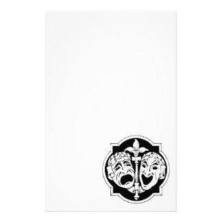 Theatre Masks Personalised Stationery