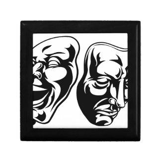 Theatre Masks Small Square Gift Box