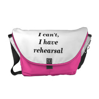 Theatre messenger bag for performers