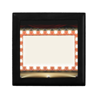 Theatre or Cinema with style light bulb sign Small Square Gift Box
