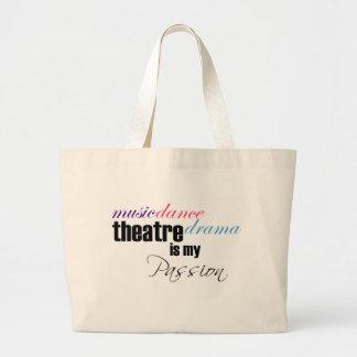 Theatre Passion Large Tote Bag
