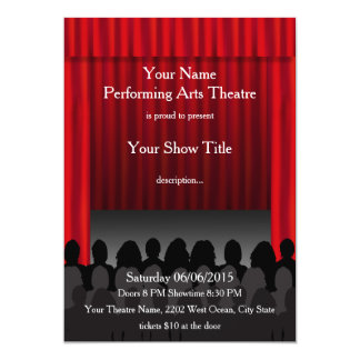 Theatre Performing Arts Stage Show Invite