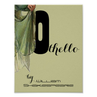 Theatre Play Poster Othello William Shakespeare