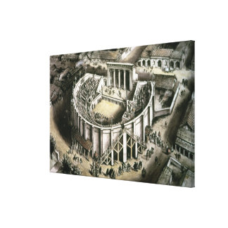 Theatre reconstruction, Roman 2nd century Canvas Print