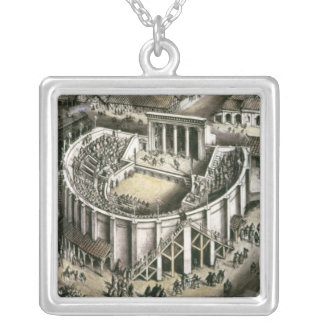 Theatre reconstruction, Roman 2nd century Silver Plated Necklace