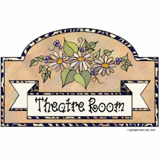"""Theatre Room"" - Decorative Sign Acrylic Cut Outs"