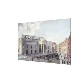 Theatre royal, Covent Garden, 1809 Canvas Print