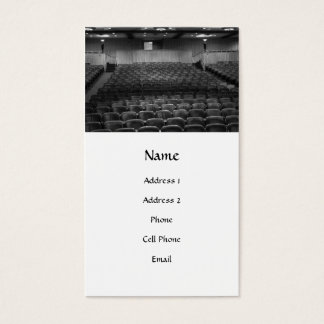 Theatre Seats Black White Business Card