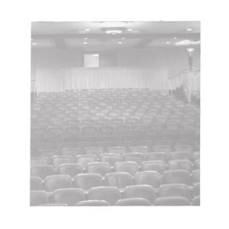 Theatre Seats Black White Notepad