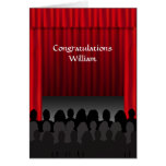 Theatre Stage Congratulations Custom Greeting Greeting Card