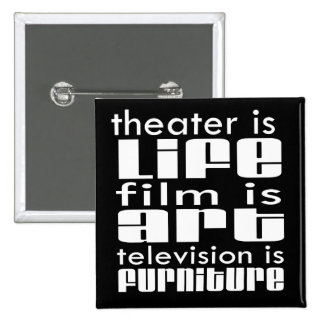 Theatre vs Film vs TV 15 Cm Square Badge