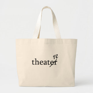 Theatre vs. Theater Large Tote Bag
