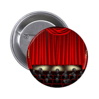 Theatre with audience 6 cm round badge