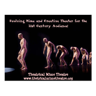 Theatrical Mime Theatre Post Card