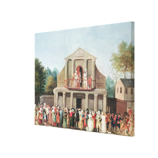 Theatrical Performance at the Saint-Laurent Canvas Print
