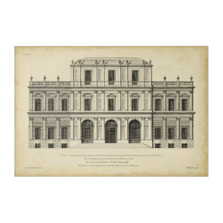 Theatrical Style Façade by Colen Campbell Acrylic Wall Art