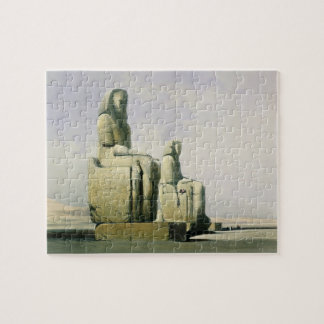 Thebes, December 4th 1838, detail of the colossi o Jigsaw Puzzle