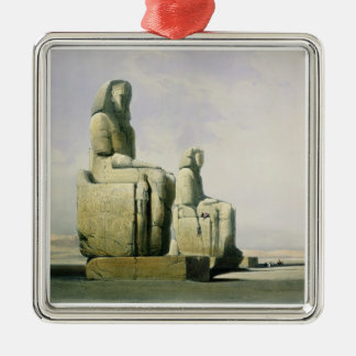 Thebes, December 4th 1838, detail of the colossi o Silver-Colored Square Decoration