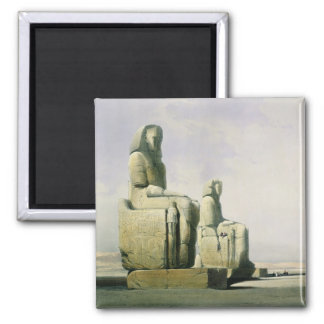 Thebes, December 4th 1838, detail of the colossi o Square Magnet