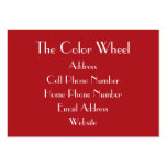 TheColorWheel Indian Red Chubby Business Card
