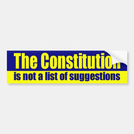 theConstitution Bumper Sticker