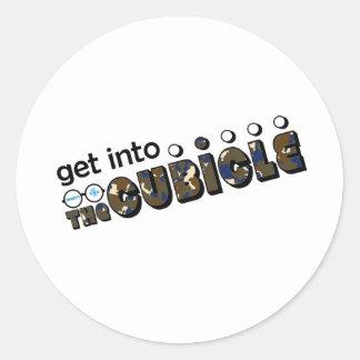 theCUBICLE Season 1 - Camoflauge Round Sticker