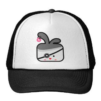 thecutescream square square bunny pirates !!! trucker hats