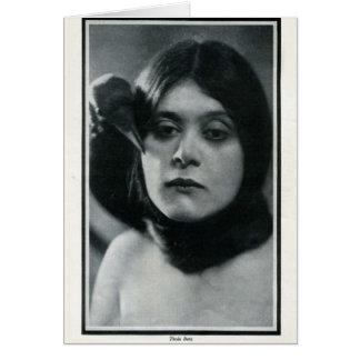 Theda Bara 1915 vintage portrait card