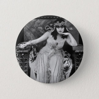 Theda Bara as Cleopatra 6 Cm Round Badge